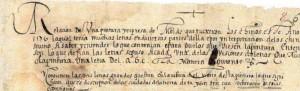 Letra itálica redonda, siglo XVI. Presenta algunos rasgos cursivos y un raro uso de nexos provenientes de la letra procesal.